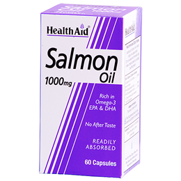 HealthAid Salmon Oil - Rich in Omega 3 - 1000mg x 60 Capsules