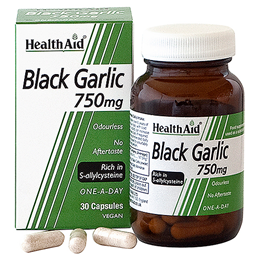 HealthAid Black Garlic - 30 x 750mg Vegicaps