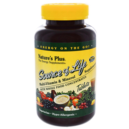 Natures Plus Source of Life Multi Vitamin & Mineral - 180 Tablets