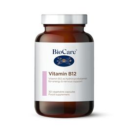BioCare Vitamin B12 with Lecithin & Hydroxycobalamine - 30 Capsules