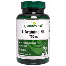 Natures Aid L-Arginine HCl - 90 x 750mg Tablets