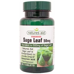 Natures Aid Sage Leaf - 90 Tablets