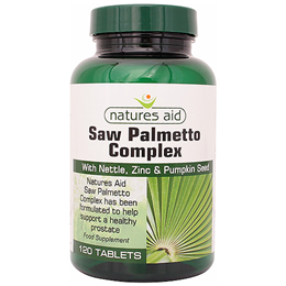 Natures Aid Saw Palmetto Complex - 120 Tablets