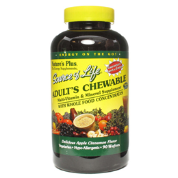 Natures Plus Source of Life Adult`s Chewable - 90  Wafers
