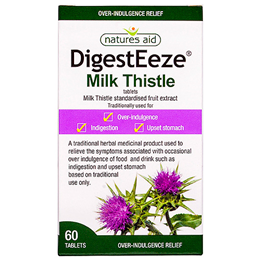 Natures Aid DigestEeze - Milk Thistle - 60 Tablets