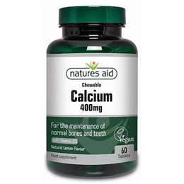 Natures Aid Chewable Calcium with Vitamin D - 60 Tablets