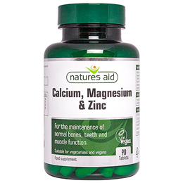 Natures Aid Calcium, Magnesium & Zinc - 90 Tablets