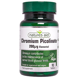 Natures Aid Chromium Picolinate - 90 x 200mcg Tablets