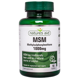 Natures Aid MSM - Methylsulphonylmethane - 90 Tablets