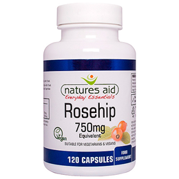 Natures Aid Rosehip - 120 x 750mg Vegicaps