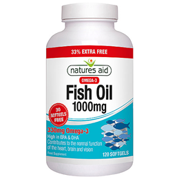 Natures Aid Fish Oil - Omega 3 - 33% EXTRA Free 90 + 30 Softgels