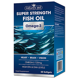 Natures Aid Super Strength Fish Oil - Omega-3 - 60 Softgels