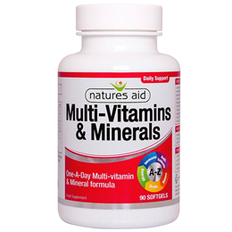 Natures Aid Multi-Vitamins & Minerals with Iron - 90 Capsules