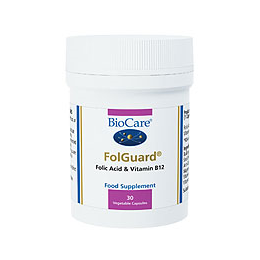 BioCare Folguard - Folic Acid With Vitamin B12 - 30 x 400mcg Vegicaps