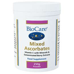 BioCare Mixed Ascorbates - Vitamin C with Berry Extracts - 250g Powder