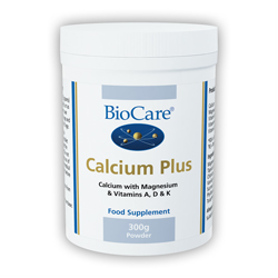 BioCare Calcium Plus - With Magnesium & Vitamins A D K - 300g Powder