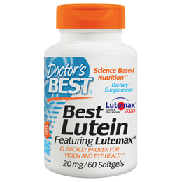Doctors Best Lutein featuring Lutemax - 60 Softgels