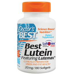 Doctors Best Lutein featuring Lutemax - 180 Softgels