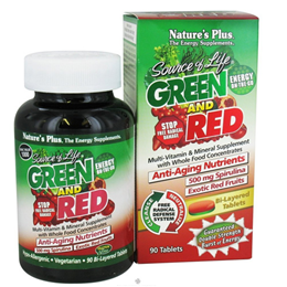 Natures Plus Source of Life Green and Red Multi-Vitamin - 90 Tablets