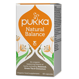 Pukka Natural Balance - Seaweed, Green Tea & Cinnamon - 60 Vegicaps