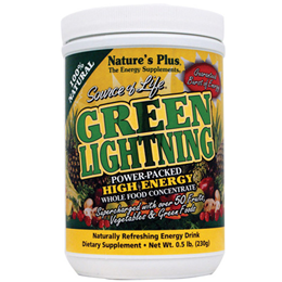 Natures Plus Source of Life Green Lightning Energy Drink - 230g