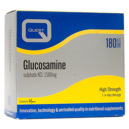 Quest Glucosamine Sulphate KCl 1500mg  - Twin Pack - 2 x 90 Vegan Tabs