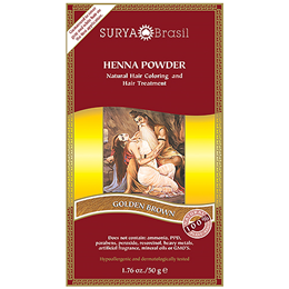 Surya Brasil Henna Powder - Natural Hair Colouring - Golden Brown -50g