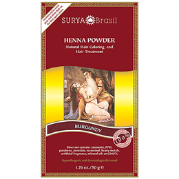 Surya Brasil Henna Powder - Natural Hair Colouring - Burgundy - 50g