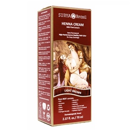 Surya Brasil Henna Cream - Natural Hair Colouring - Light Brown- 70ml