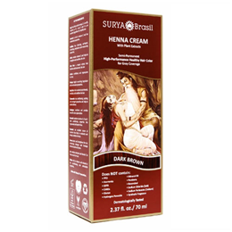 Surya Brasil Henna Cream - Natural Hair Colouring - Dark Brown - 70ml