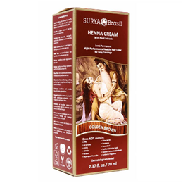 Surya Brasil Henna Cream - Natural Hair Colouring -Golden Brown - 70ml