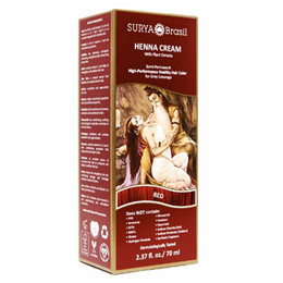 Surya Brasil Henna Cream - Natural Hair Colouring - Red - 70ml