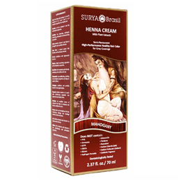 Surya Brasil Henna Cream - Natural Hair Colouring - Mahogany - 70ml