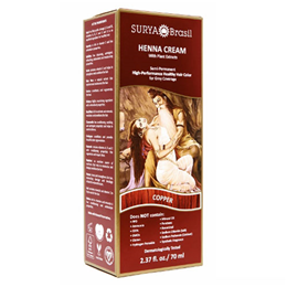Surya Brasil Henna Cream - Natural Hair Colouring - Copper - 70ml