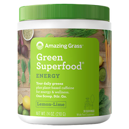 Amazing Grass Energy Lemon Lime Green Superfood - 210g