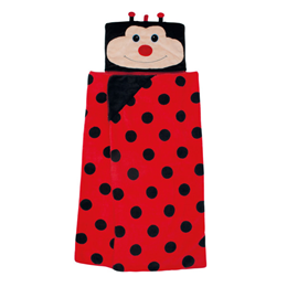 Aroma Home Hooded Blankets for Kids - Ladybird