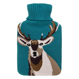 Aroma Home Fragranced Hot Water Bottle Teal Stag (Lavender & Rosemary)