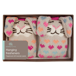 Aroma Home Knitted Rabbit Hanging Fresheners