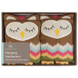 Aroma Home Knitted Owl Hanging Fresheners