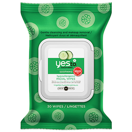 Yes To Cucumbers - Soothing Hypoallergenic Facial Wipes - 30 Pack