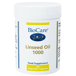 BioCare Linseed Oil 1000 - Flaxseed Oil - 90 x 1050mg Vegicaps