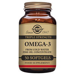 Solgar Triple Strength Omega-3 Softgels - 50 Softgels