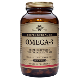 Solgar Triple Strength Omega-3 Softgels - 100 Softgels