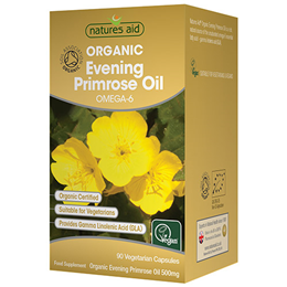 Natures Aid Organic Evening Primrose Oil - 90 x 500mg Vegicaps