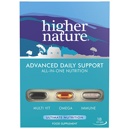 Higher Nature Advanced Daily Support - All-in-One Nutrition-18 Strips