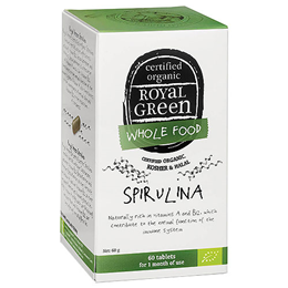 Royal Green Superfood Spirulina - 1000mg x 60 Tablets