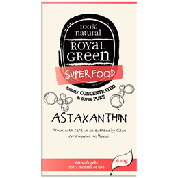 Royal Green Superfood Astaxanthin - 60 x 4mg Softgels