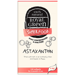 Royal Green Superfood Astaxanthin - 4mg x 120 Softgels