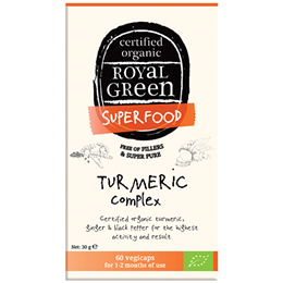 Royal Green Superfood Turmeric Complex - 60 Vegicaps
