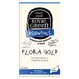 Royal Green Essentials Flora Gold - 60 Tablets - Best before date is 18th August 2019